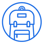 Blue Rucksack Marketing Mobile Retina Logo